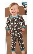 Mud Pie Forest Friends Collection Boys Moose Pajamas PJs 2 Pc Set 1012160 New