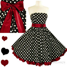 New Polka Dot Rockabilly 50s Full Skirt Swing Dress S M L Xl Xxl 1X 2X 3X Plus