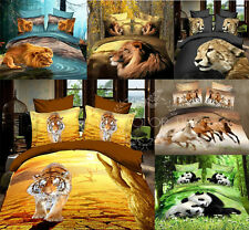 NEW Queen 4pcs Stereo Oil Painting Cotton Bedding Set Sham Cover Pillow SJTc21