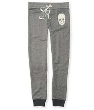 Aeropostale Skull Ribbed Cuff Sweat Pants AERO  FREE SHIPPING