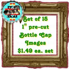"""Set of 15 1"""" Pre-cut Bottle Cap Images  American Native (NA)  Glossy Photo"""