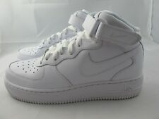 NEW JUNIORS NIKE AIR FORCE 1 MID 314195-113 WHITE/WHITE