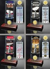 Choose Your NHL Team Stanley Cup Champions Ticket & Bronze Coin Acrylic Display