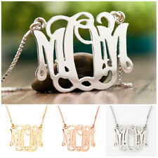 Monogram Necklaces Sterling Silver Mom Mother's Birthdays Christmas Gift Custom
