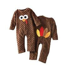 Mud Pie Baby 1 Pc Thanksgiving Set Turkey Applique Boys Girls 1032157 Outfit New