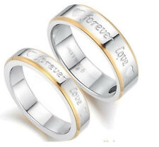 Fashion Womens Mens Lover Forever Love The Titanium Steel Ring Couple Rings New