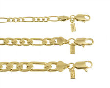 18K Gold Plated Figaro Chain Necklace/Bracelet Made In USA - LIFETIME WARRANTY