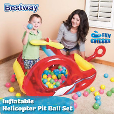 Bestway Fast Set Kids Inflatable Helicopter Ball Pit With 50 Game Balls Play Set