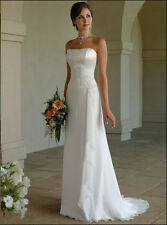 STOCK Unbranded white/ivory Evening/Bridesmaid Dresses Gown Prom 6 8 10 12 14 16