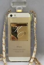 Initlialzed Phone Case - Perfume Bottle - w/Your Initials or Photo & Carry Chain