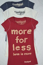 Desigual designer t- shirt, More for Less  Blue, white or red sizes S M L NEW