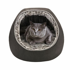 Friends Forever Hooded Snuggler Reversible Pet Bed with Cushion