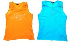 DKNY girls youth Sz 16 A yrs ladies S orange or tie dyed blue tank top NWT