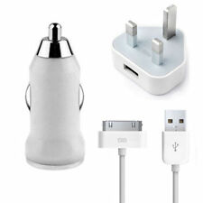 MAINS PLUG/CAR CHARGER/SYNC DATA LEAD FOR iPhone 3GS 4G 4S IPAD NANO HOT SALE