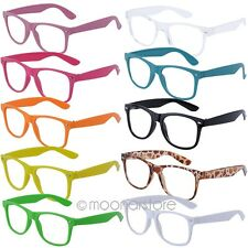Fashion Flat Top Retro Geek Clear Lens Nerd Glasses Wayfarer Style Thick Frame