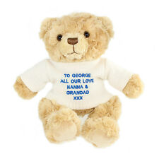 NEW PERSONALISED TEDDY BEAR CHOOSE FROM 12 DESIGNS BIRTHDAY CHRISTMAS