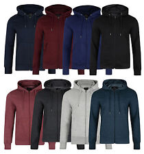 Smith & Jones Men's Full Zip Hooded  Sweatshirt Fleece Hoodie
