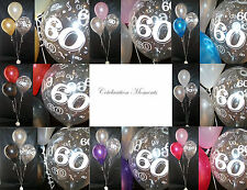 Happy 60th Birthday Party Helium Balloon Decoration DIY Clusters Kit - 3 tables