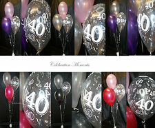 Happy 40th Birthday Party Helium Balloon Decoration DIY Clusters Kit -3 tables