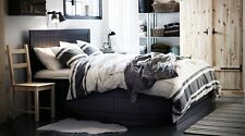 IKEA Bjornloka Duvet Quilt Comforter Cover Black White Striped King Queen Twin