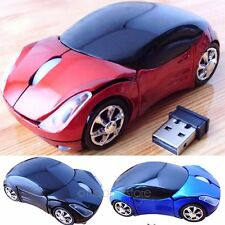 3D Wireless Optical 2.4G Car Shaped Mouse Mice 1600DPI USB For PC laptop XP WIN7