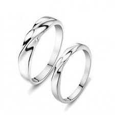 Simple Men's & Women Annuiversity 925 Sterling Silver Couple Ring Jewelry A824