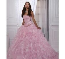 So Charming Colorful Organza Handmade Sleeveless Ball Gown Quinceanera Dresses