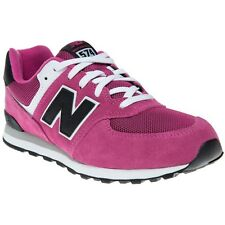 New Girls New Balance Pink 574 Suede Trainers Retro Lace Up