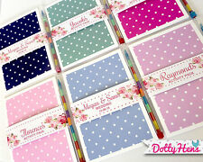 PERSONALISED CHILDRENS WEDDING ACTIVITY BOOK PACK VINTAGE POLKA PARTY FAVOUR BAG