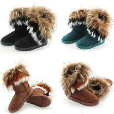 Fashion 2014 New Autumn Winter Women Lady Faux Fur Snow Short Boots Ankle Boots