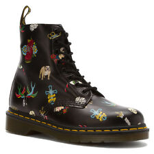 Dr. Martens  Women's 1460 style Pascal Tatoo Black Boots US 6 7 8 9 10 NEW