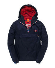 New Mens Superdry Overhead Cagoule Jacket Imperial Navy TP