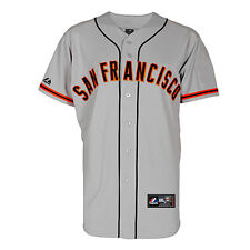2014 Official San Francisco Giants Grey Road Jersey Men's Small - MLB LICENSED