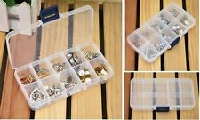 Empty Storage Case Box 10 Cells for Nail Art Tips Gems Jewelry Packaging Displ