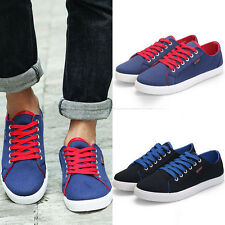 2015 New Men's Lace-up Round Toe Classic Flat Shoes Canvas Casual Sport Sneakers