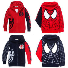Spider Man Marvel Hero Kids Boys Girls Sweatshirt Hoodies Clothes Children Coat