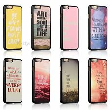 Life Inspirational Quotes Hard Back Cover Skin Case For iphone 4 4s 5 5c 5s SE