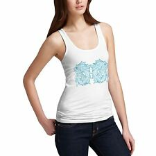 Women Cotton Novelty Marine Life Sea Crest Tank Top