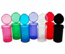 6 DRAM HINGED TOP CONTAINER RX Pill Vitamin Craft Bottle Storage 12, 25, 50, 100