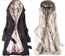 Fashion Lady Thicken Warm Winter Coat Hood Parka Overcoat Long Jacket Outwear