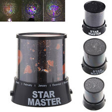 Lovers Cupid Moon Star Amazing Romatic LED Cosmos Night Sky Light Lamp Projector