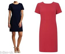 NEW LADIES BHS WOMAN NAVY/PINK CREPE SEAMED TUNIC DRESS SIZE10 - 22 BNWOT
