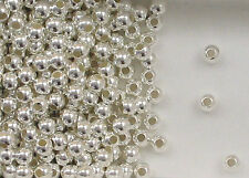 Sterling Silver  Beads, 4mm Seamless Round Design, New