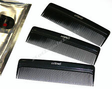 "SCUNCI® Ügo! 3PACK BLACK POCKET COMBS 4-3/4"" KIDS OR ADULTS TRAVEL CAR HOME"