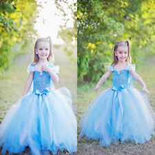 Baby Girls Kids Princess Party Birthday Prom Bow Tulle Tutu Gown Formal Dresses