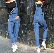 Womens Dungarees Overalls Jumpsuits ladies jean blue denim overall Denim Jeans