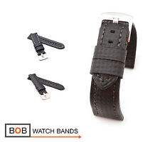 BOB Carbon Style Watch Band/Strap for Panerai, black, 22 mm, new!