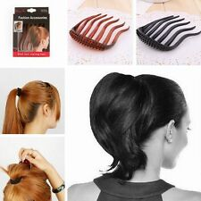 Bump It Up Lady Hair Bun Maker Accessories Inserts Comb Girl Hair Clip Ponytail