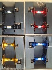 NEW Miche Primato GOLD/ RED/ BLUE Track Pista Fixie Hubset LARGE FLANGE 32H Hubs
