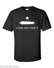 COME AND TAKE IT GONZALEZ FLAG- BLACK-T-SHIRT-NEW-ALL SIZES AVAILABLE-2A-NRA